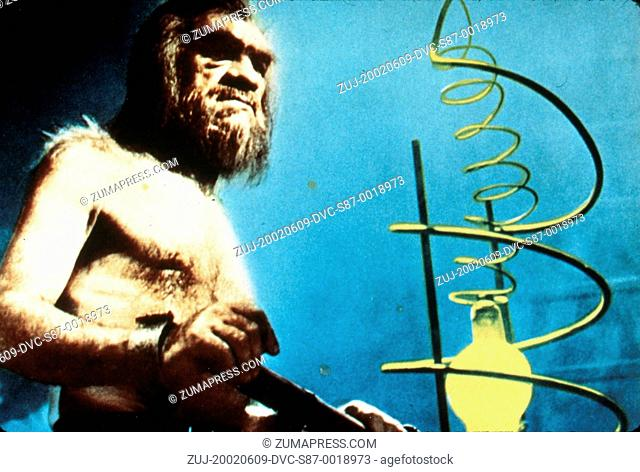 1957, Film Title: UNEARTHLY, Director: BROOKE L PETERS, Studio: REPUBLIC, Pictured: ITS & ALIENS! THINGS, BARE CHEST, HAIRY, SCIENCE RUNS AMOK, BEARD, SCI-FI