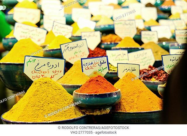 Spices at the bazar, Shiraz