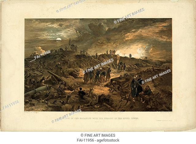 After the Taking of Malakoff on 8 September 1855. Simpson, William (1832-1898). Colour lithograph. English Painting of 19th cen. . 1855. Great Britain