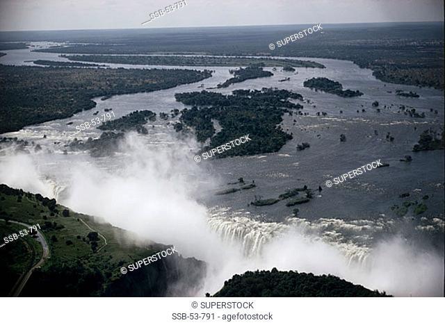 Victoria Falls Zambia-Zimbabwe Border
