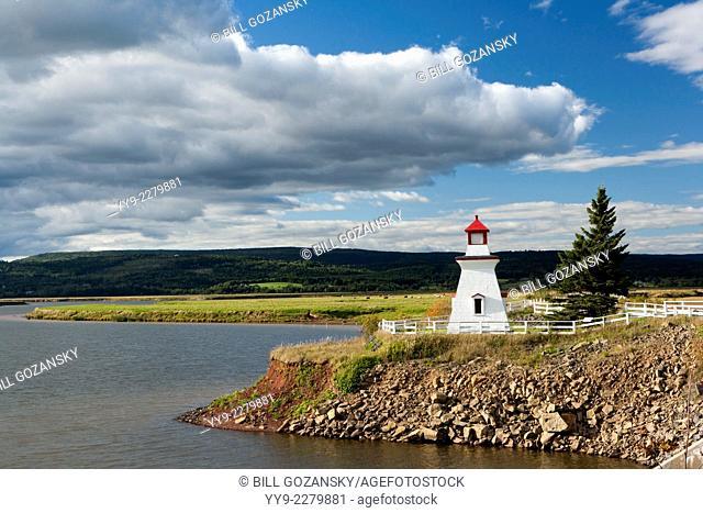 Anderson Hollow Lighthouse at Shipyard Park at Harvey Bank - Mary's Point Road, Harvey, New Brunswick, Canada