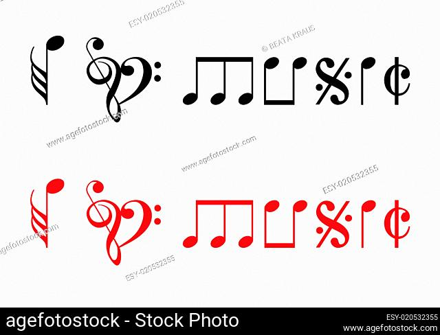 I love music, vector