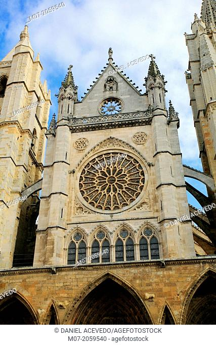 Cathedral, Leon, St James Way, Spain