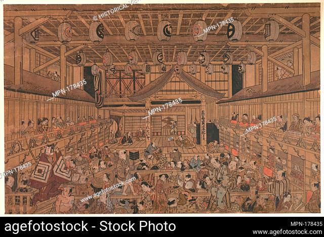 Ichikawa Danjuro II (?) Performing Shibaraku in the Ichimura Theater. Artist: Torii Kiyotada (Japanese, fl. ca. 1720-50); Period: Edo period (1615-1868); Date:...