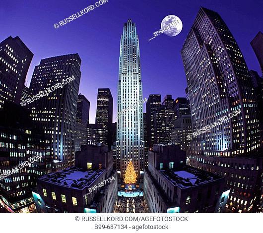 Christmas Rockefeller, Center Midtown, Manhattan New York, USA