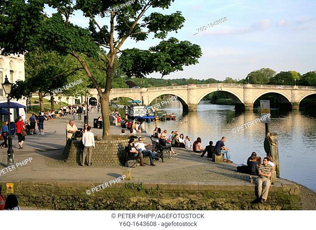 Evening at Richmond Bridge in Surrey  London