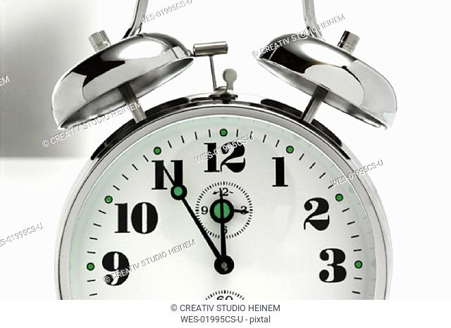Five to twelve, alarm clock