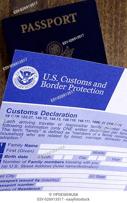 Documents for the passage of the visa and customs control