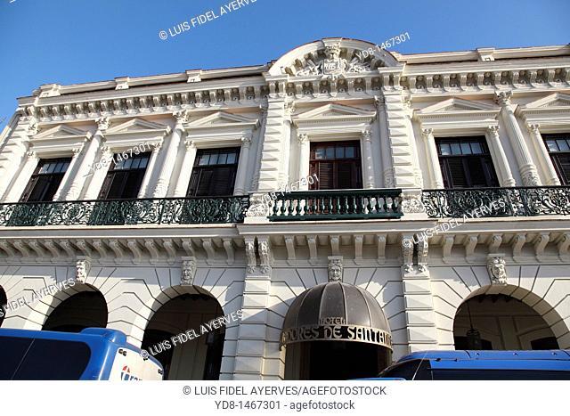 Front View of Hotel Santana in Old Havana, Havana, Cuba