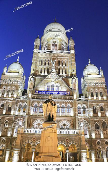 The Municipal Corporation of Greater Mumbai at Night, Maharashtra, India