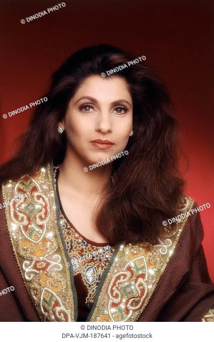 1990, Portrait of Indian film actress Dimple Kapadia