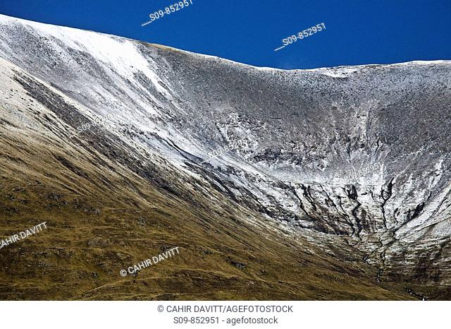 General view of the Partry Mountains near Liscarney and Carrowmore, County Mayo, Connaught, Ireland