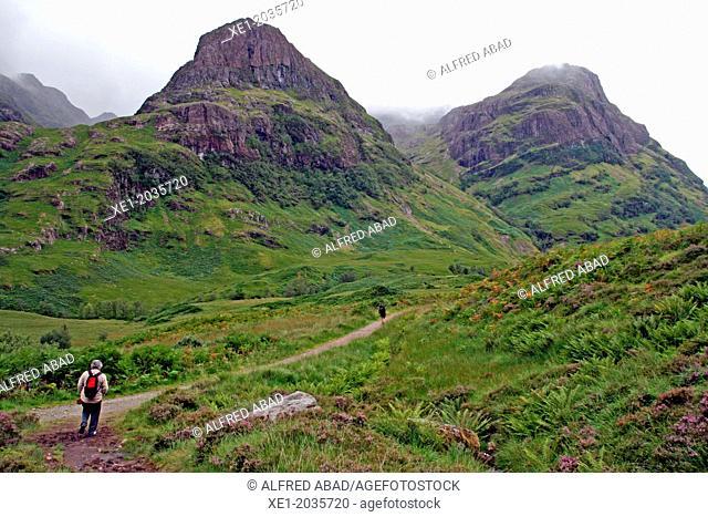 Footpath, mountain, Glencoe, Highland, Scotland, UK