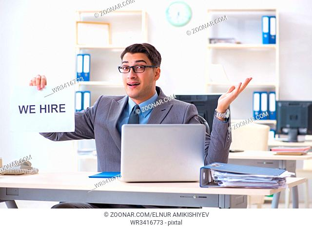 Businessman in recruitment concept in the office