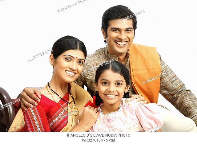 Portrait of rich Indian farmer family MR743A,743B,743C
