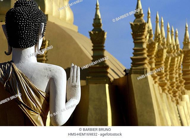Laos, Vientiane, That Luang stupa