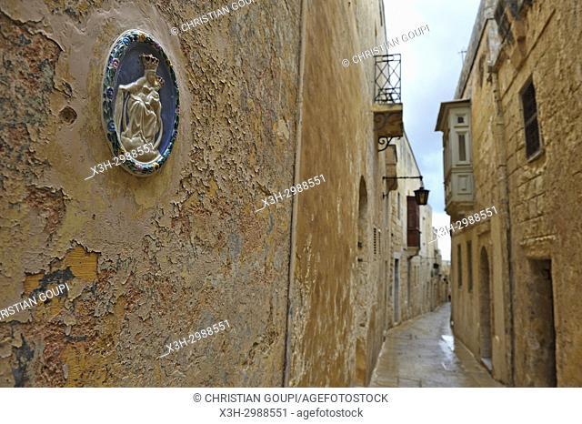 Madonna and Child, Mdina, Malta, Mediterranean Sea, Southern Europe