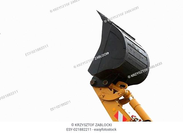 Digger excavator isolated on white background