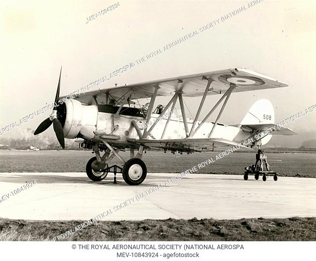 Bristol Pegasus IX powered RCAF Blackburn B-6 Shark III, 525, with incorrect rudder serial, on the compass-swinging base at Brough in November 1938