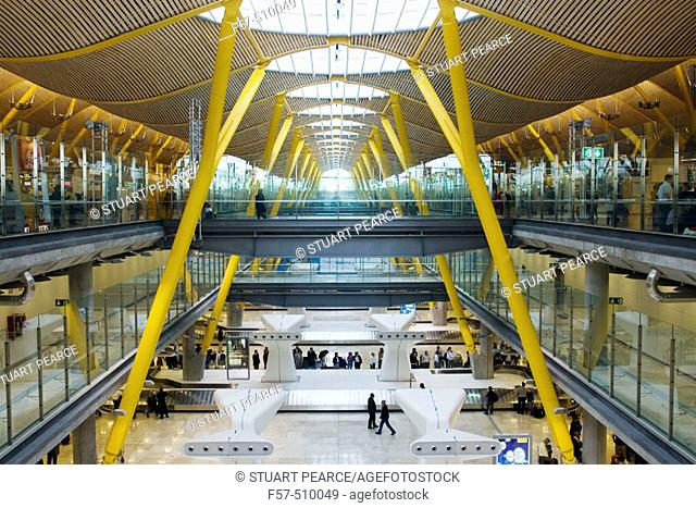 Terminal 4, new Barajas airport terminal. Madrid, Spain