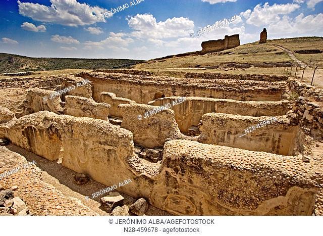 Cisterns, Roman ruins of Valeria. Cuenca province, Castilla-La Mancha, Spain