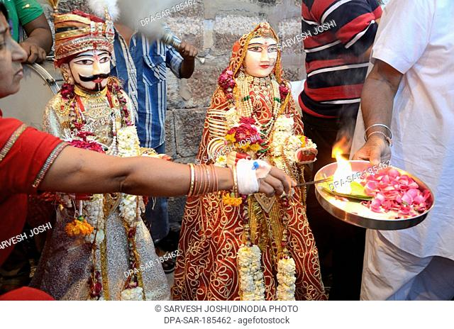 Gangaur Puja in Jodhpur at Rajasthan India