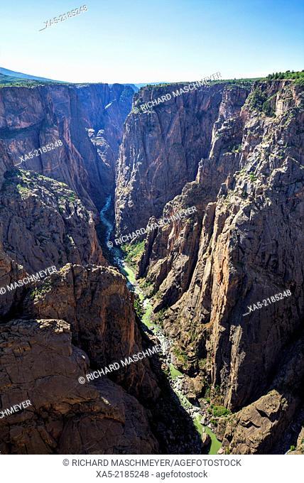 Gunnison River deep in the canyon, Black Canyon of the Gunnison National Park, Colorado, USA