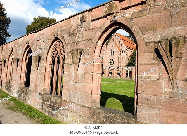 Germany, Calw, Hirseau abbey, cloister