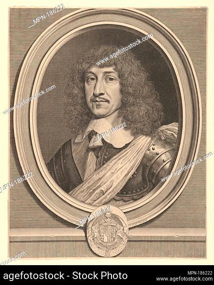 Bernard de Foix de La Valette, duc d'Eperon. Artist: Robert Nanteuil (French, Reims 1623-1678 Paris); Date: ca. 1650; Medium: Engraving; first state of three...