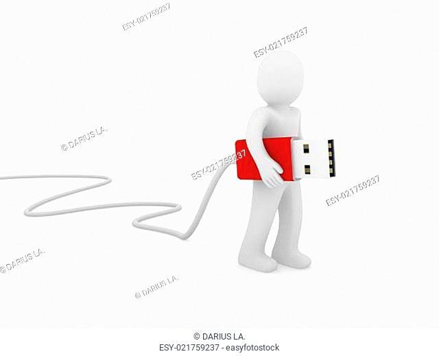 3d human man usb stick