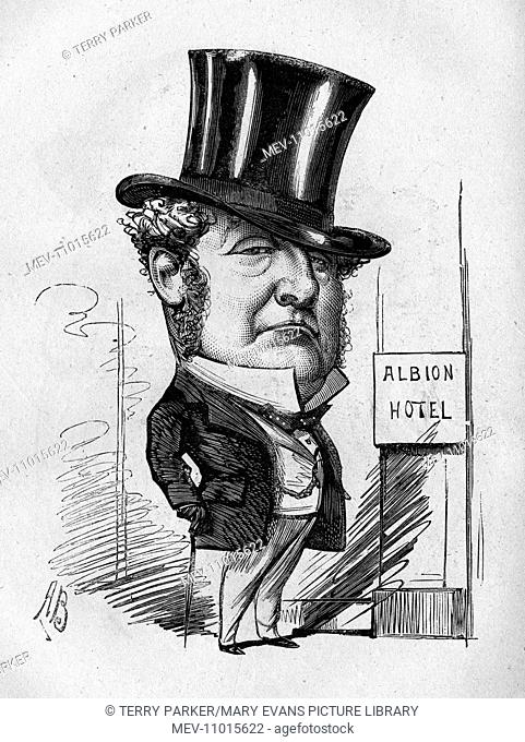 Caricature, Mr Cooper of the Albion Hotel -- Stout and Mild