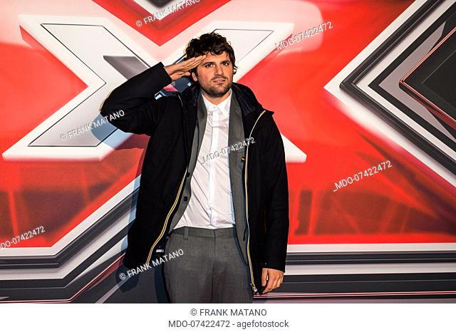 Frank Matano attends at the photocall of the final of X Factor Italia at Mediolanum forum in Milan. Milan (Italy), December 12th, 2019