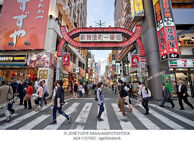 Tokyo City-Shinjuku District -Dotombori Entertainment Area