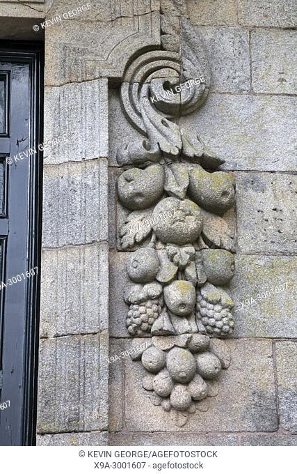Building Facade, Quintana de Vivos Square, Santiago de Compostela; Galicia; Spain
