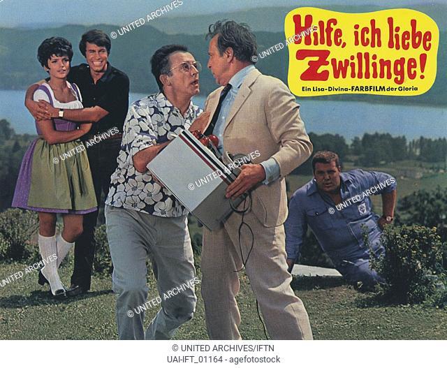 Hilfe, ich liebe Zwillinge, Deutschland 1969, Regie: Peter Weck, Darsteller: Uschi Glas, Roy Black, Georg Thomalla, Eddi Arent