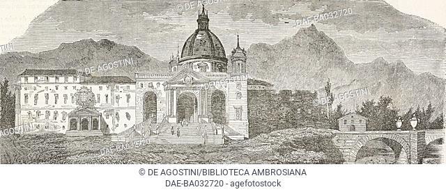 Shrine of St Ignatius of Loyola in Azpeitia, Spain, illustration from L'Illustration, Journal Universel, No 88, Volume 4, November 2, 1844