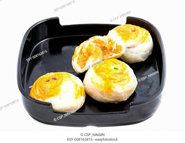 Traditional Chinese cake isolated