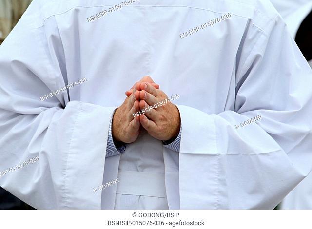 Ars-sur-Fromans. Sanctuary-Shrine of Jean-Marie Vianney (the Cure d'Ars). Catholic priest