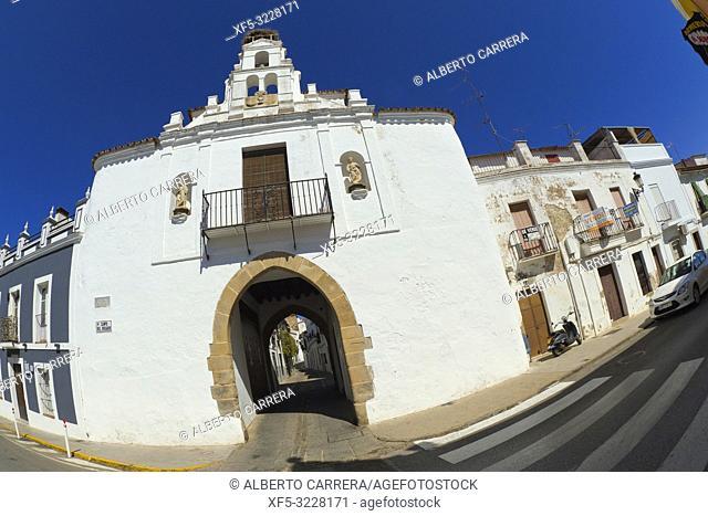 Arco de Jerez, Extramural View, Old Town, Zafra, Badajoz, Extremadura, Spain, Europe