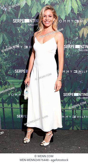 Serpentine Gallery Summer Party at Kensington Gardens - Arrivals Featuring: Sienna Miller Where: London, United Kingdom When: 06 Jul 2016 Credit: WENN