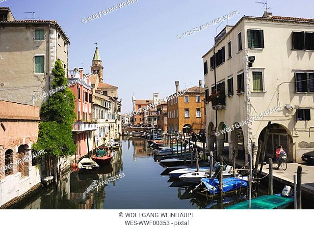 Italy, Chioggia, Vena Canal, Fishing harbor