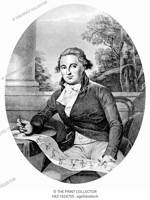 'Henry Bunbury Esq', 1787. Portrait of British artist Henry William Bunbury (1750-1811). Bunbury was an equerry to the Duke of York