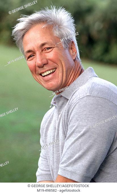 smiling/laughing man
