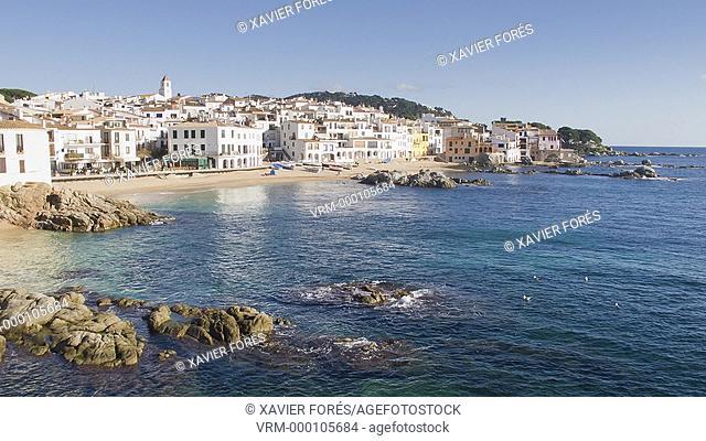 Calella de Palafrugell village, Costa Brava, Girona, Spain