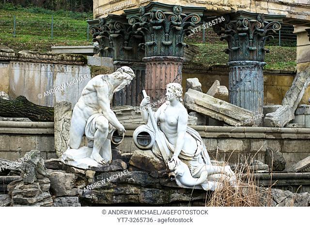 Römische Ruine are false Roman ruins created by Ferdinand von Hohenberg in 1778 in the gardens of Schönbrunn palace gardens, Vienna, Austria