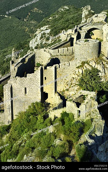 France, Aude, Peyrepertuse castle