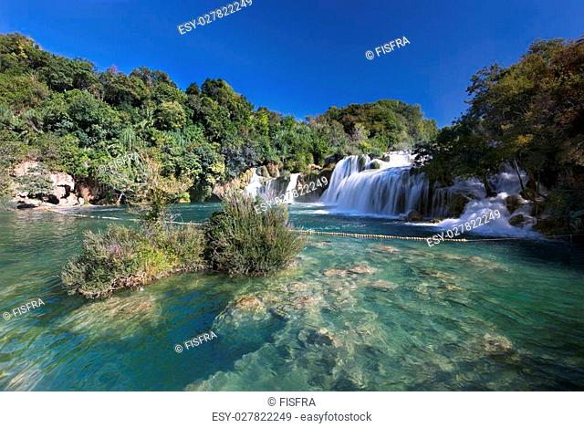 Waterfall (Skradinski buk) in Krka National Park, Croatia