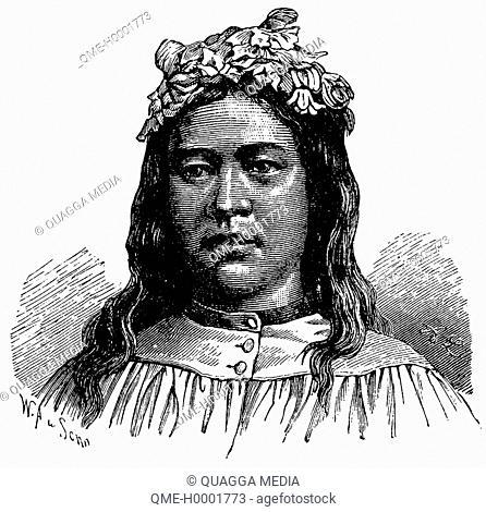 Portrait of a Tahitian woman, woman from Tahiti