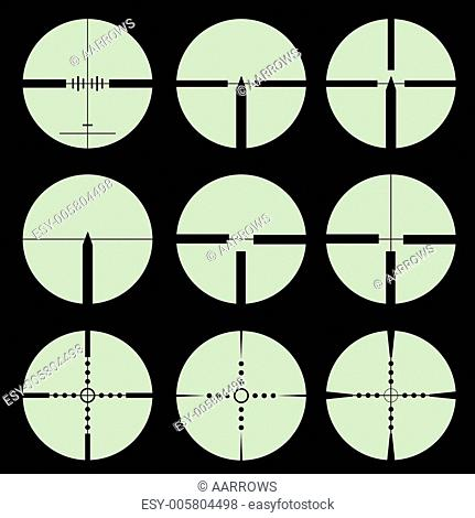 Cross hair and target set. Vector illustration