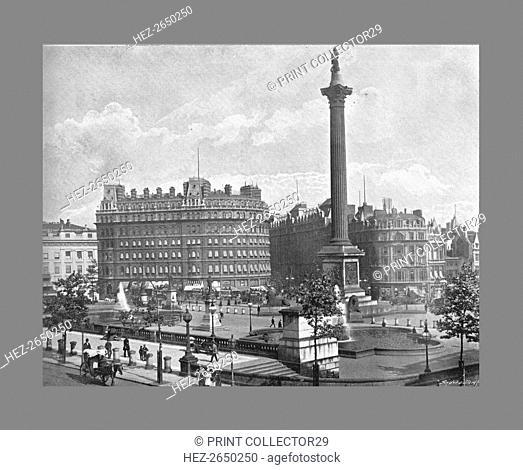 Trafalgar Square, London, c1900. Artist: York & Son